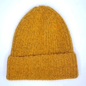David and Young Toque Beanie Unisex Mustard Yellow